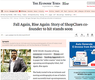 Fall Again, Rise Again: Story of ShopClues co-founder to hit stands soon